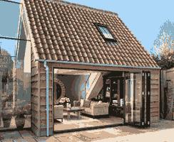 Detached garage conversion image