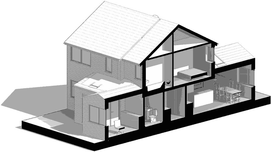 Image showing architect extension plans